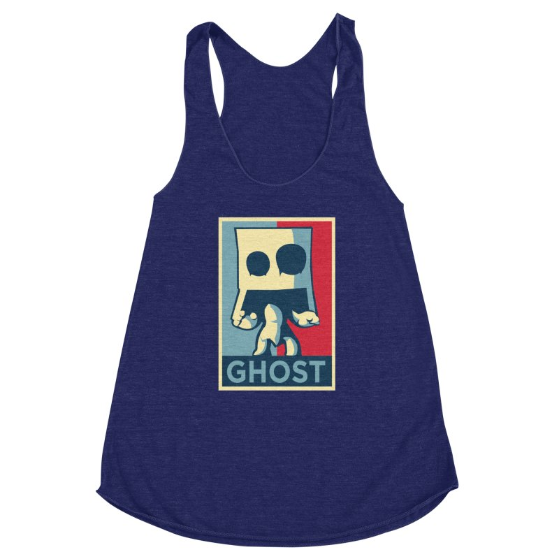 The Politics of BoxGhost Women's Racerback Triblend Tank by Kappacino Creations