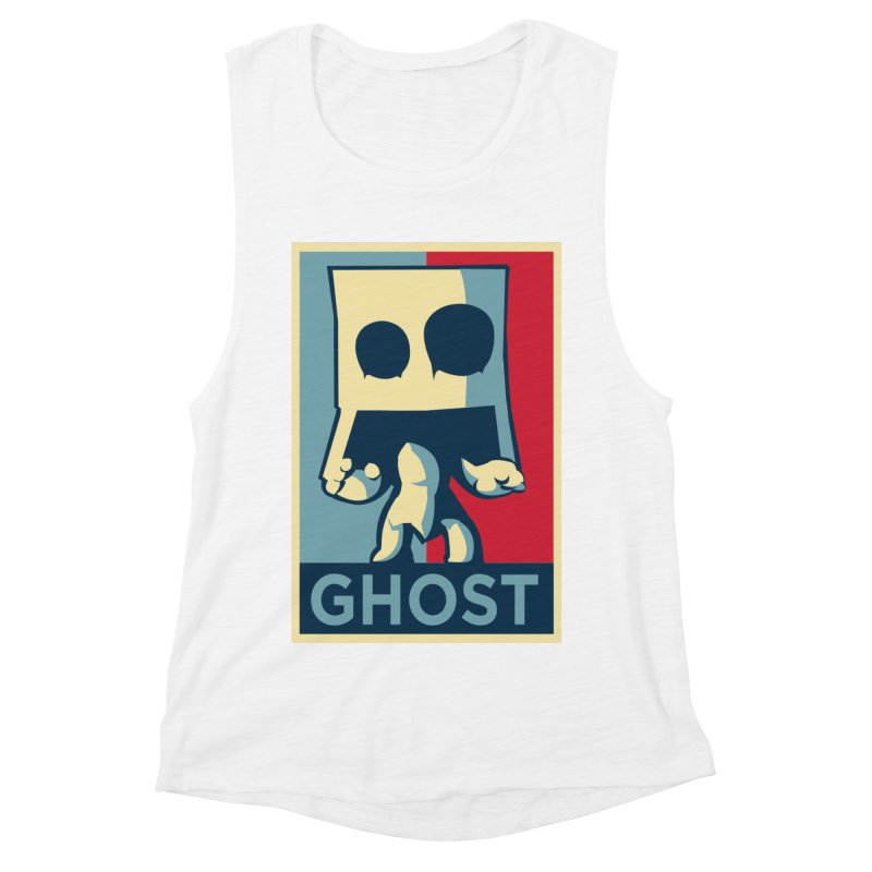The Politics of BoxGhost Women's Muscle Tank by Kappacino Creations