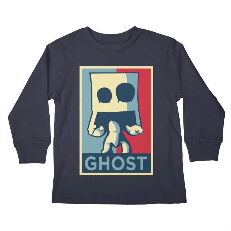 The Politics of BoxGhost Kids Longsleeve T-Shirt by Kappacino Creations