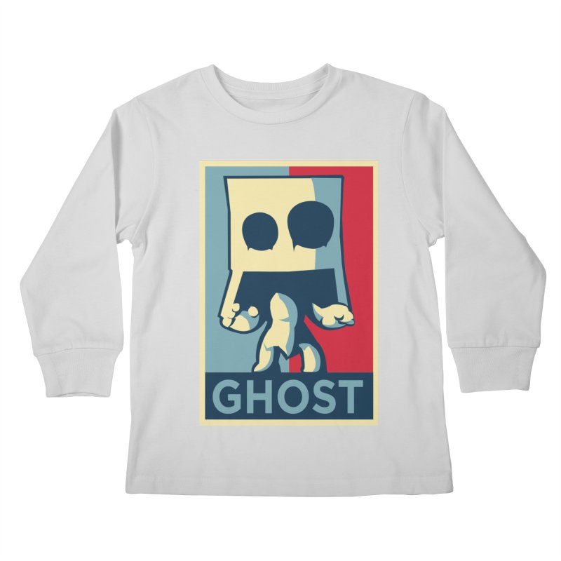 The Politics of BoxGhost Kids Longsleeve T-Shirt by Kappacino Creations