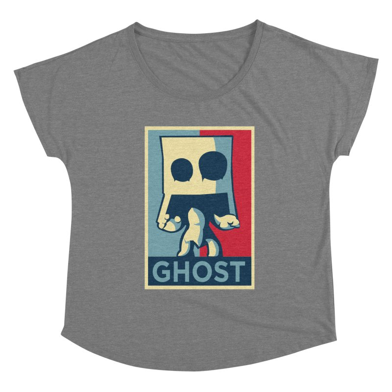 The Politics of BoxGhost Women's Scoop Neck by Kappacino Creations
