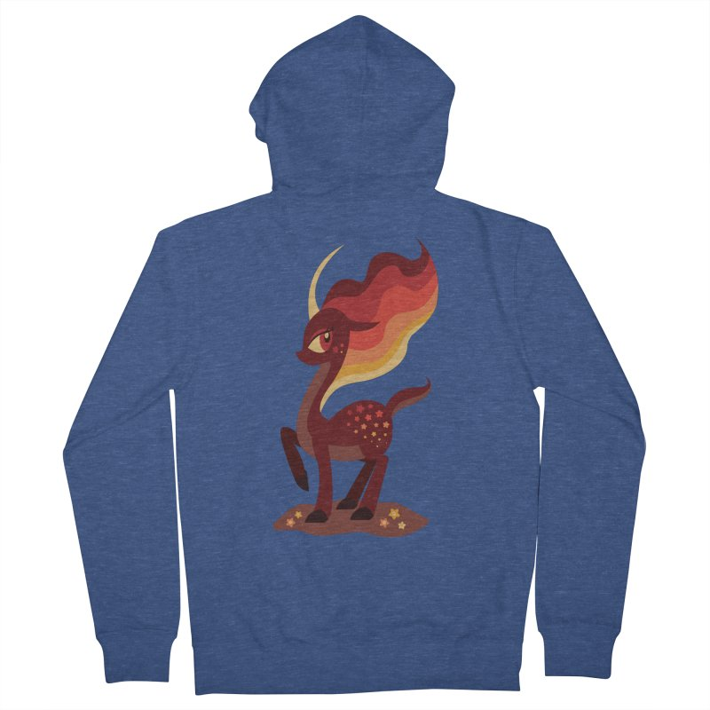 Fire of the Forest Women's French Terry Zip-Up Hoody by Kappacino Creations