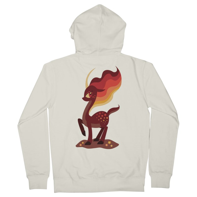 Fire of the Forest Men's Zip-Up Hoody by Kappacino Creations