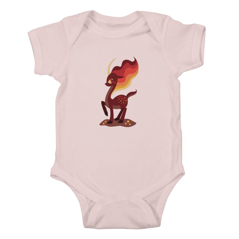 Fire of the Forest Kids Baby Bodysuit by Kappacino Creations