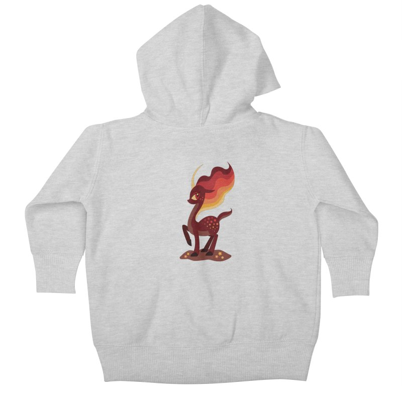 Fire of the Forest Kids Baby Zip-Up Hoody by Kappacino Creations