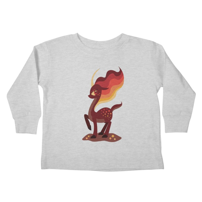 Fire of the Forest Kids Toddler Longsleeve T-Shirt by Kappacino Creations