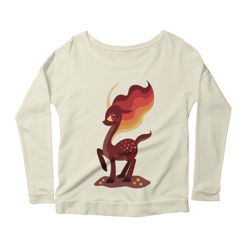 Fire of the Forest Women's Longsleeve Scoopneck  by Kappacino Creations