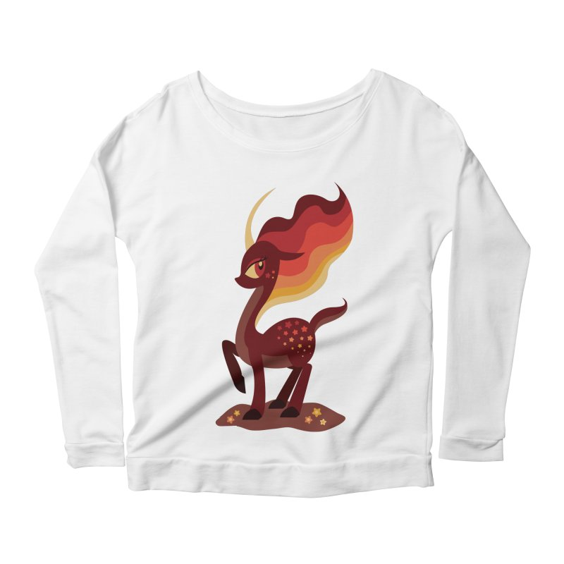 Fire of the Forest Women's Scoop Neck Longsleeve T-Shirt by Kappacino Creations
