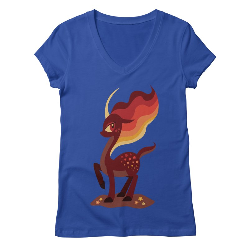 Fire of the Forest Women's V-Neck by Kappacino Creations