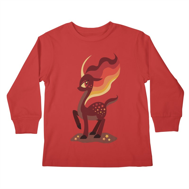 Fire of the Forest Kids Longsleeve T-Shirt by Kappacino Creations
