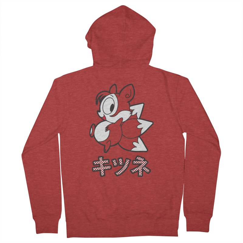 Katakana Kitsune Women's Zip-Up Hoody by Kappacino Creations