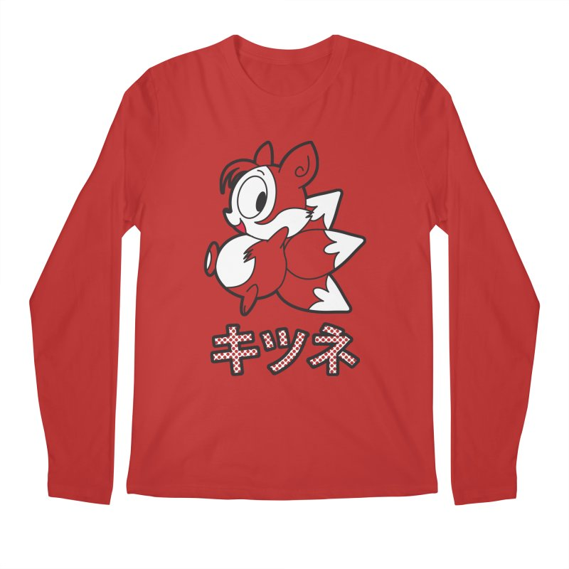 Katakana Kitsune Men's Longsleeve T-Shirt by Kappacino Creations