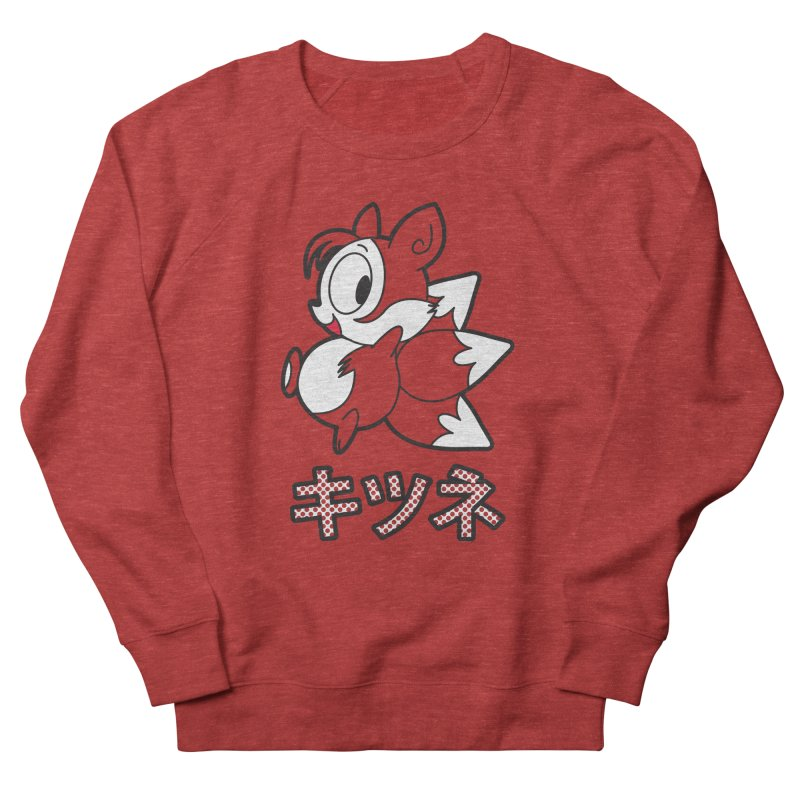 Katakana Kitsune Men's French Terry Sweatshirt by Kappacino Creations