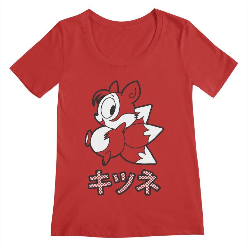 Katakana Kitsune Women's Regular Scoop Neck by Kappacino Creations