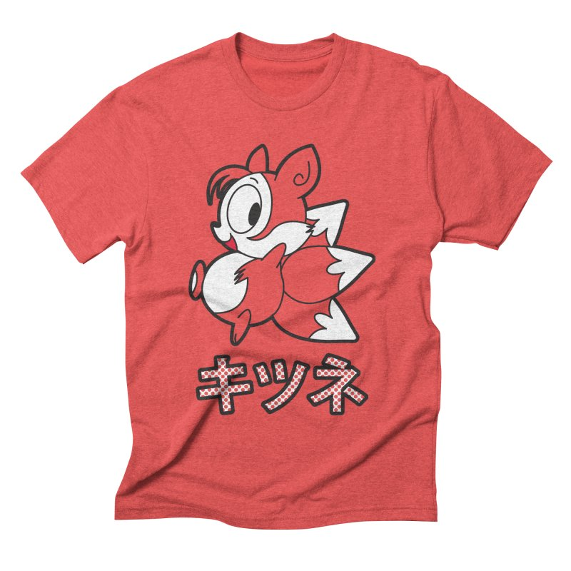 Katakana Kitsune Men's Triblend T-shirt by Kappacino Creations
