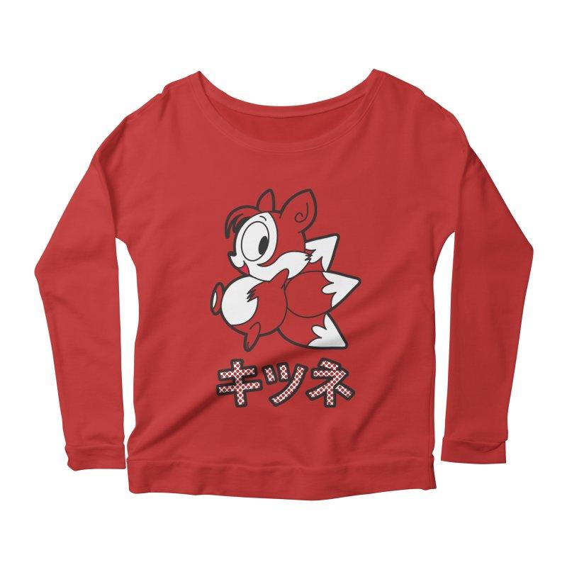Katakana Kitsune Women's Scoop Neck Longsleeve T-Shirt by Kappacino Creations