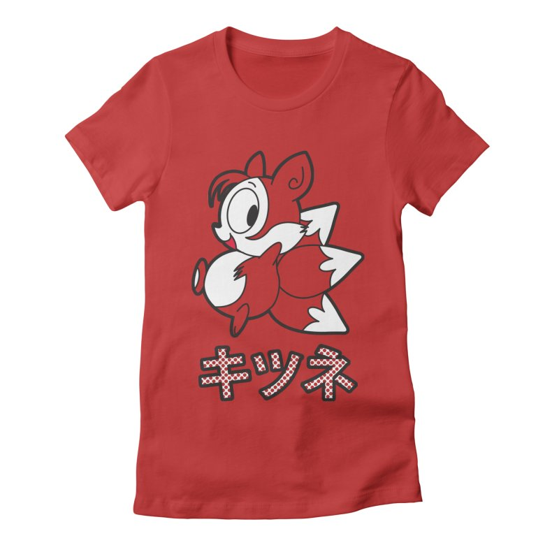 Katakana Kitsune Women's Fitted T-Shirt by Kappacino Creations