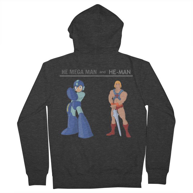 He Mega Man and He-Man Men's Zip-Up Hoody by xklibur's Artist Shop