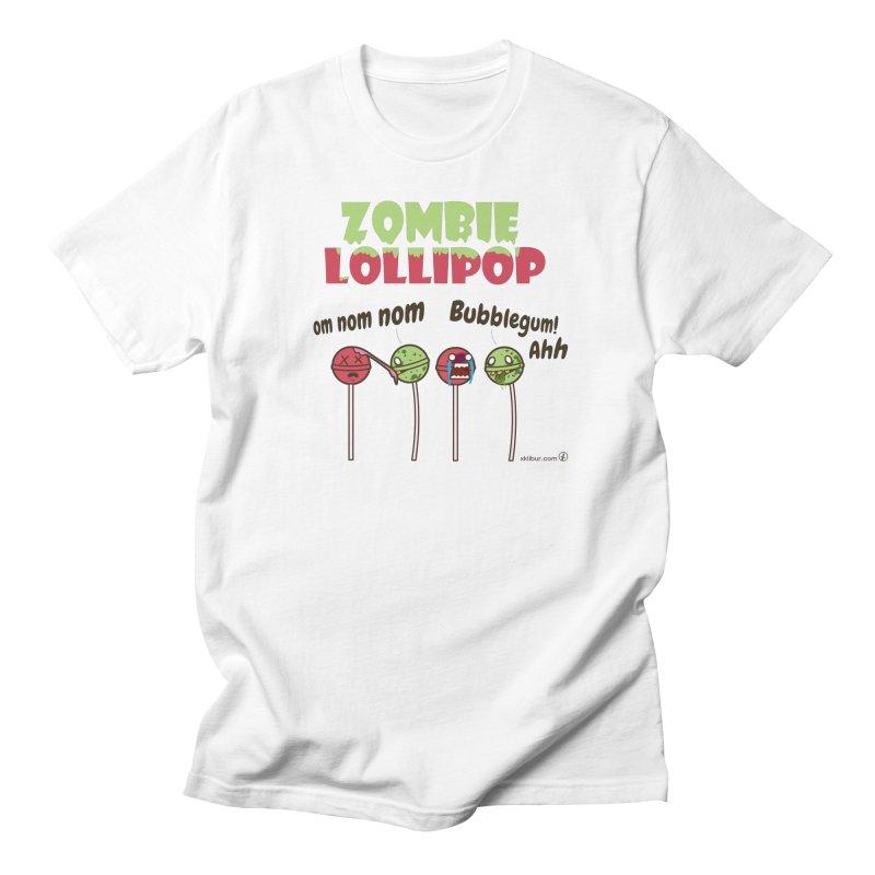 Zombie Lollipop Men's T-Shirt by xklibur's Artist Shop