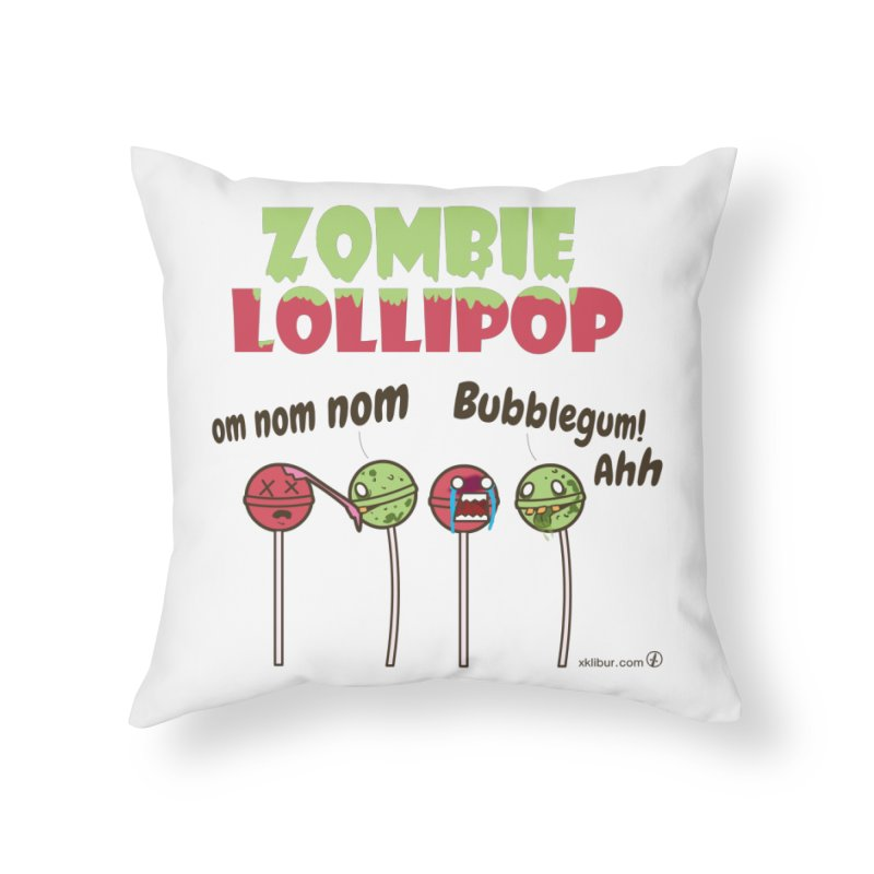Zombie Lollipop Home Throw Pillow by xklibur's Artist Shop