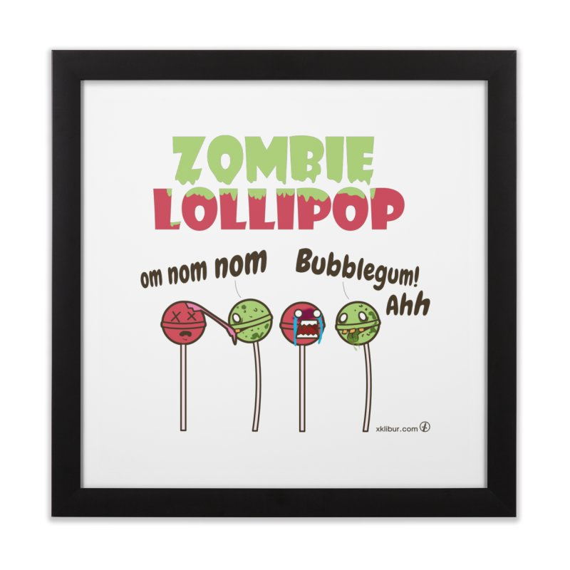 Zombie Lollipop Home Framed Fine Art Print by xklibur's Artist Shop