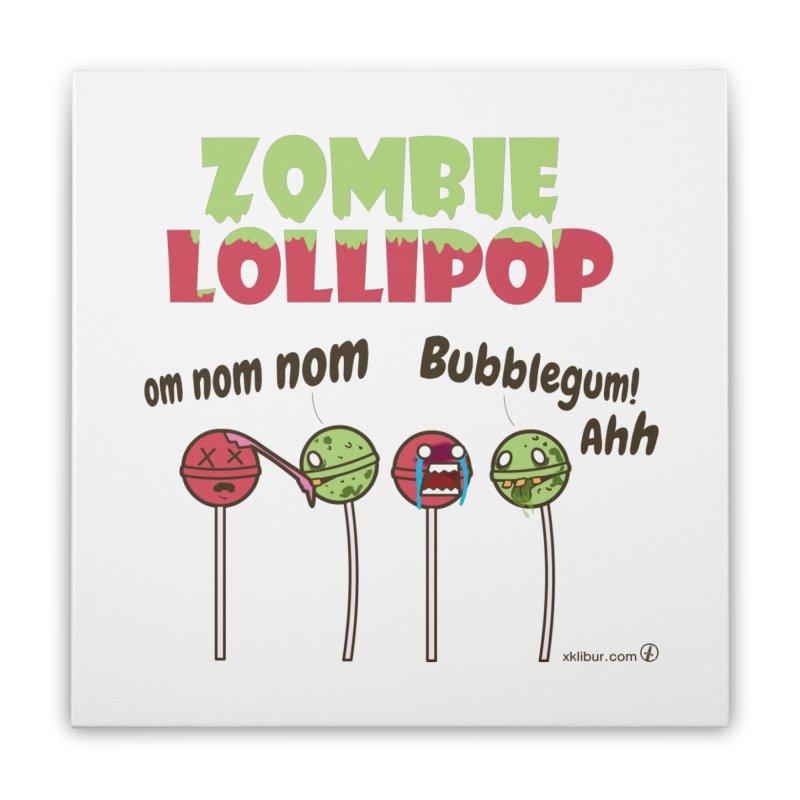 Zombie Lollipop Home Stretched Canvas by xklibur's Artist Shop