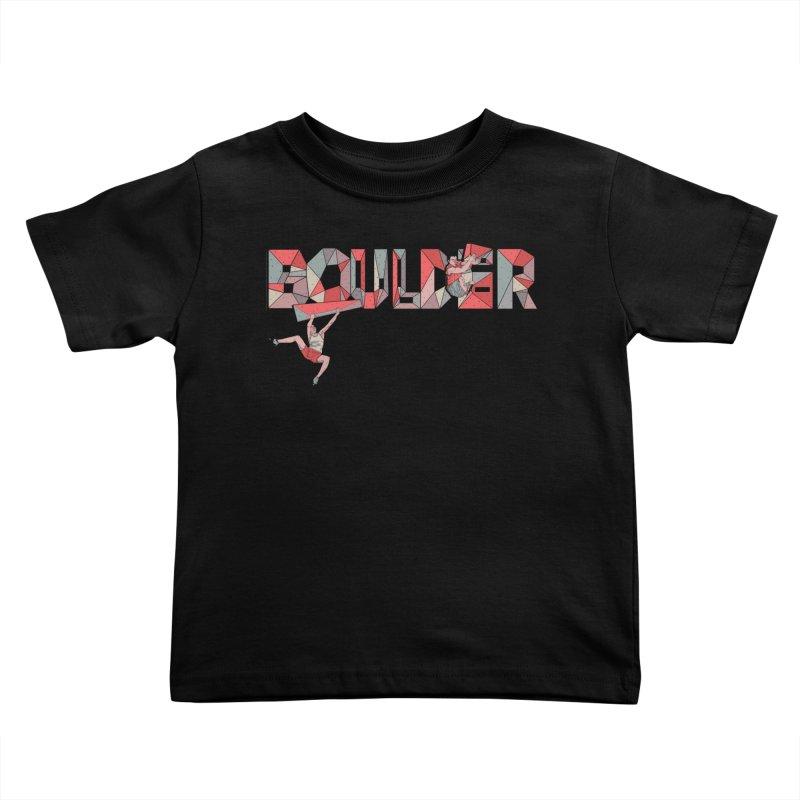 Red Boulder Kids Toddler T-Shirt by · STUDI X-LEE ·