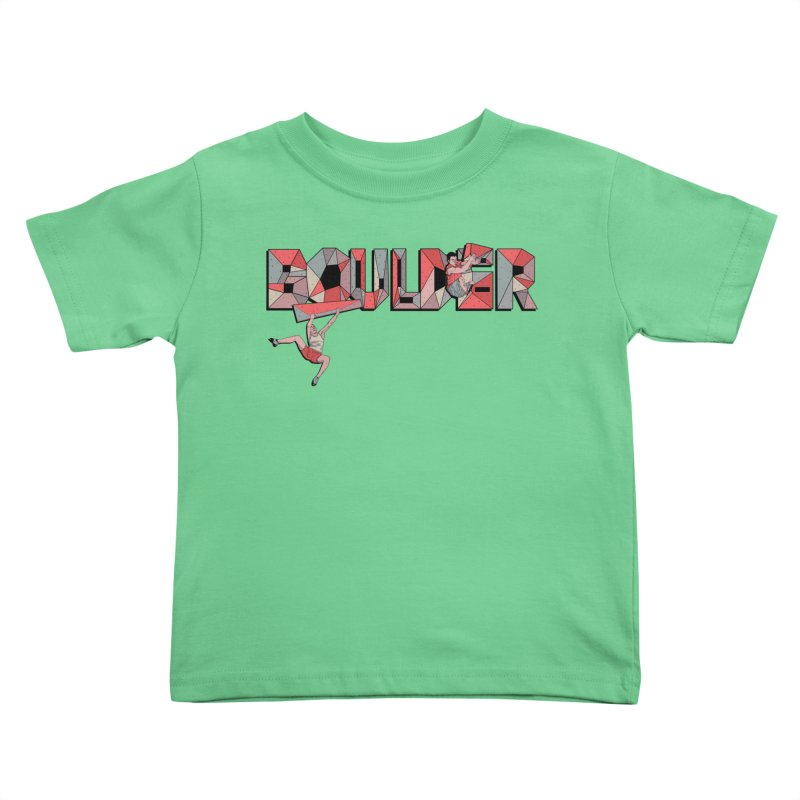 Red Boulder Kids Toddler T-Shirt by INK. ALPINA