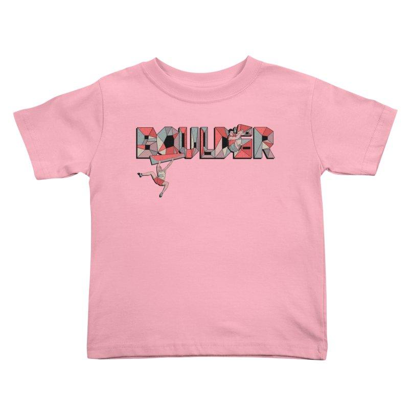 Red Boulder Kids Toddler T-Shirt by INK. ALPINA