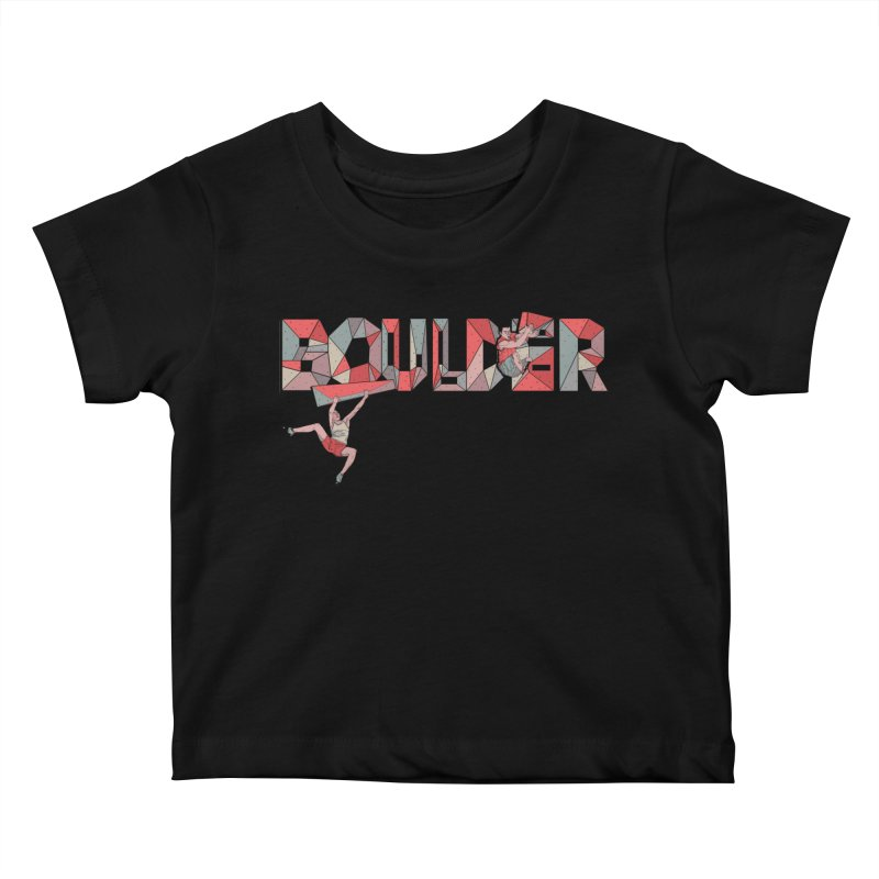 Red Boulder Kids Baby T-Shirt by · STUDI X-LEE ·