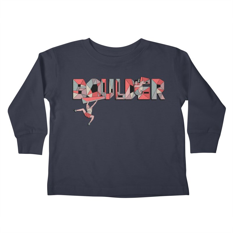 Red Boulder Kids Toddler Longsleeve T-Shirt by INK. ALPINA