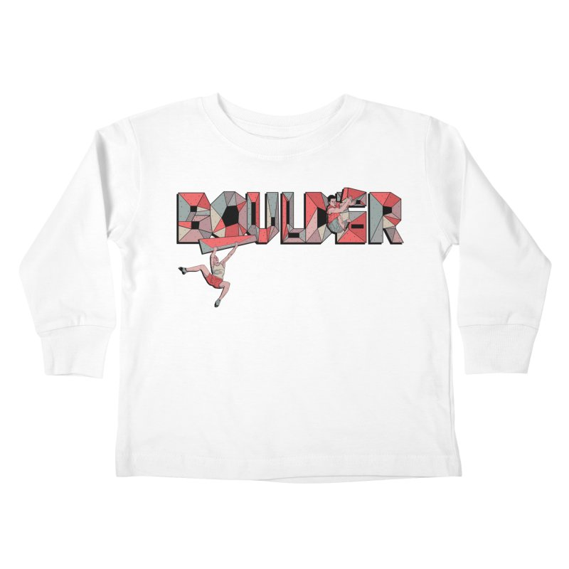 Red Boulder Kids Toddler Longsleeve T-Shirt by · STUDI X-LEE ·