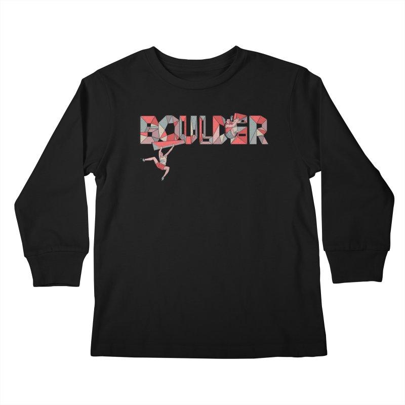Red Boulder Kids Longsleeve T-Shirt by · STUDI X-LEE ·
