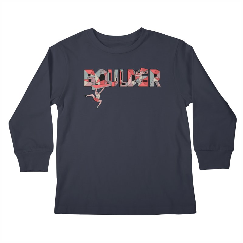 Red Boulder Kids Longsleeve T-Shirt by · STUDI X-LEE ·