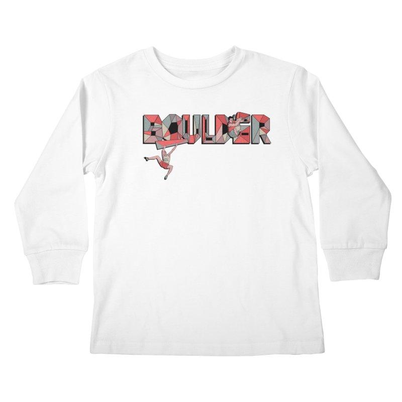 Red Boulder Kids Longsleeve T-Shirt by INK. ALPINA