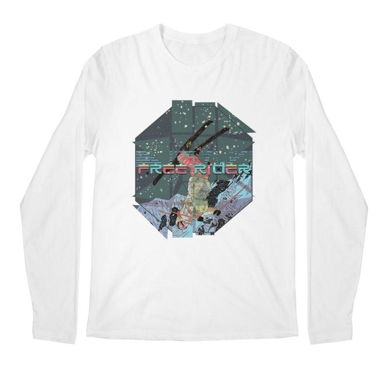 Free Rider Men's Regular Longsleeve T-Shirt by INK. ALPINA