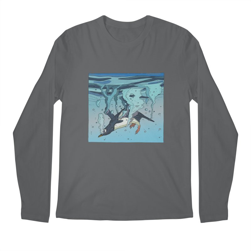 Penguin Men's Regular Longsleeve T-Shirt by INK. ALPINA