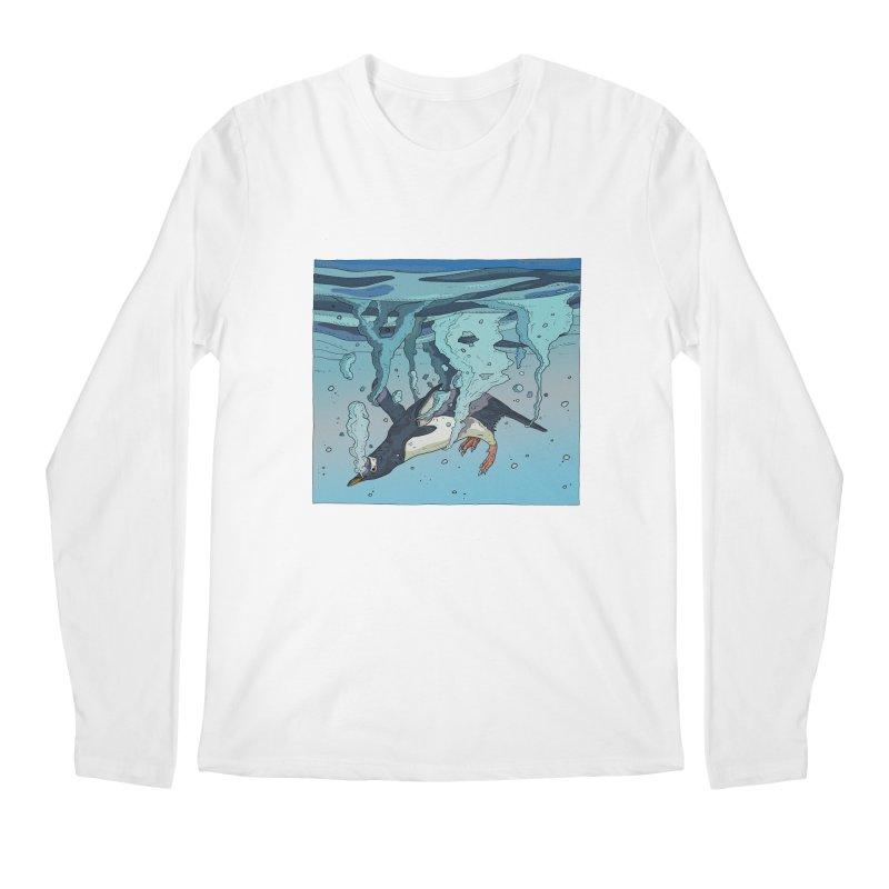 Penguin Men's Regular Longsleeve T-Shirt by INK. ALPINA