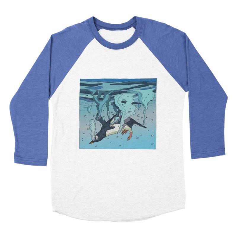 Penguin Women's Baseball Triblend Longsleeve T-Shirt by INK. ALPINA