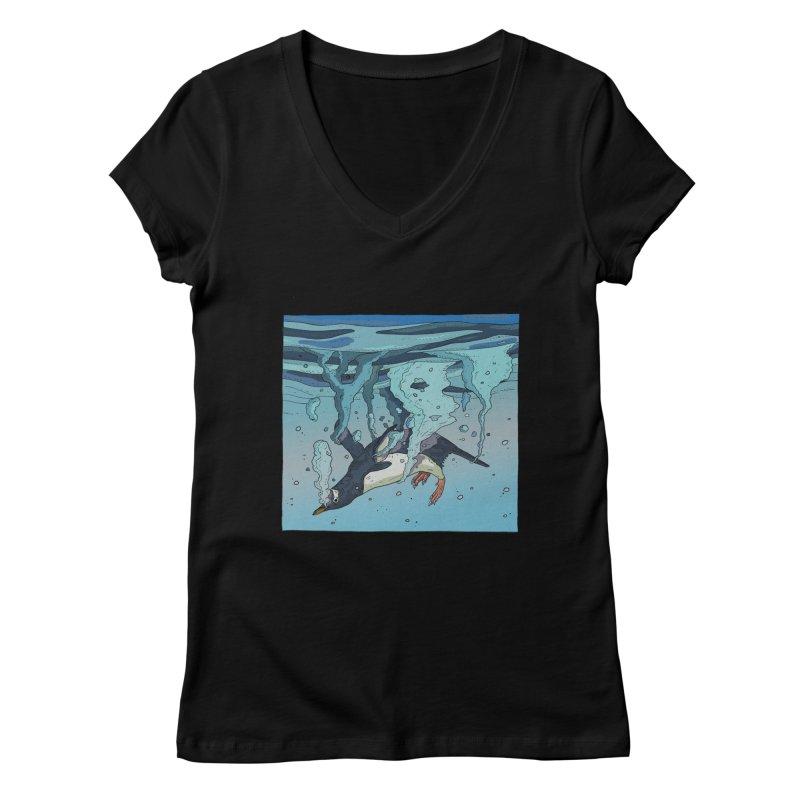 Penguin Women's V-Neck by · STUDI X-LEE ·