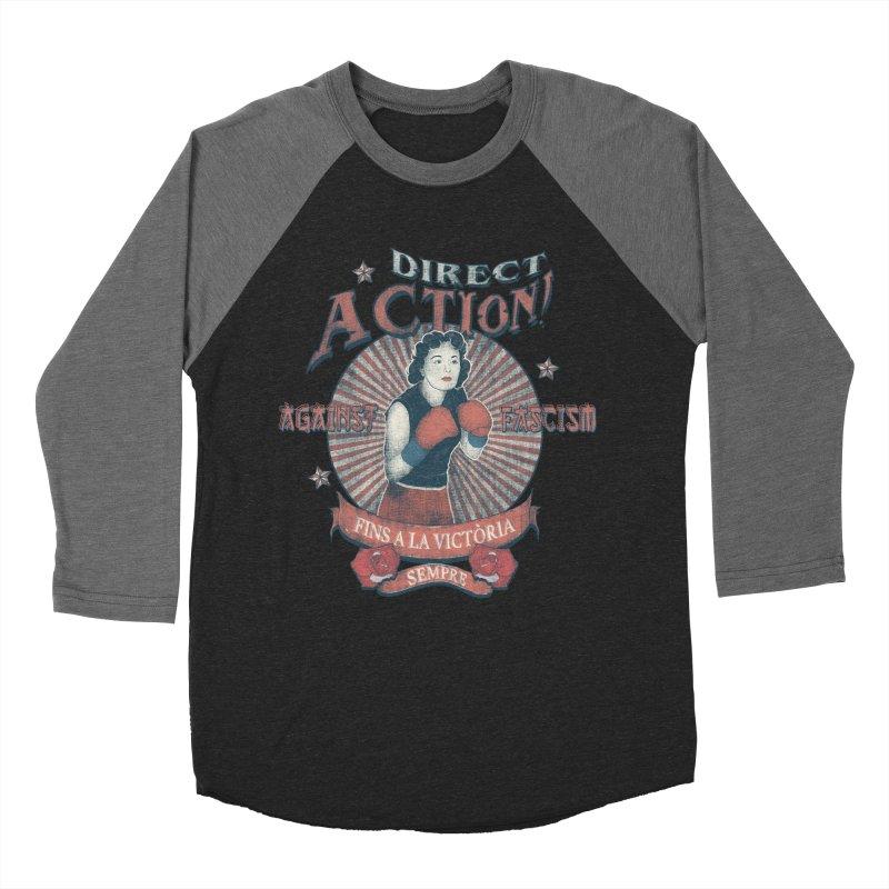 Agains Fascisn Women's Baseball Triblend Longsleeve T-Shirt by INK. ALPINA