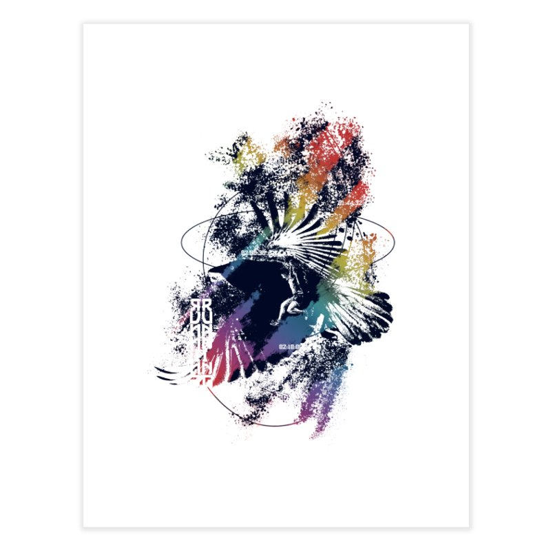 Free Running Home Fine Art Print by INK. ALPINA