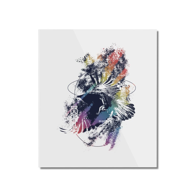 Free Running Home Mounted Acrylic Print by INK. ALPINA