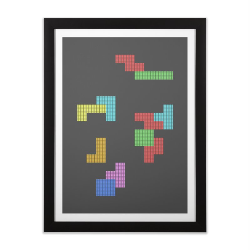 Classic Game Home Framed Fine Art Print by INK. ALPINA