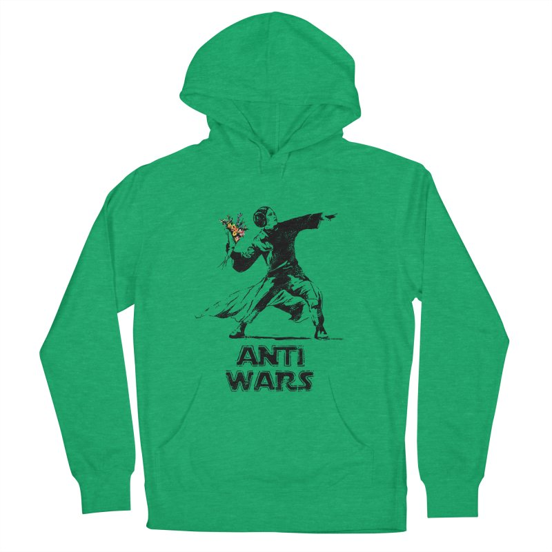 Anti Wars Men's French Terry Pullover Hoody by · STUDI X-LEE ·