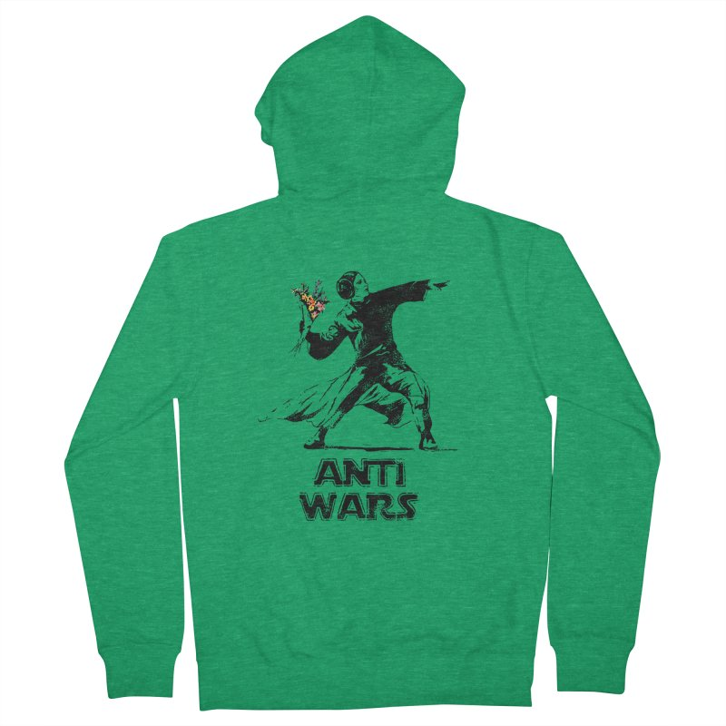 Anti Wars Men's French Terry Zip-Up Hoody by INK. ALPINA