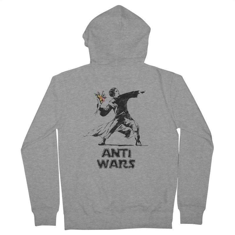 Anti Wars Men's French Terry Zip-Up Hoody by · STUDI X-LEE ·