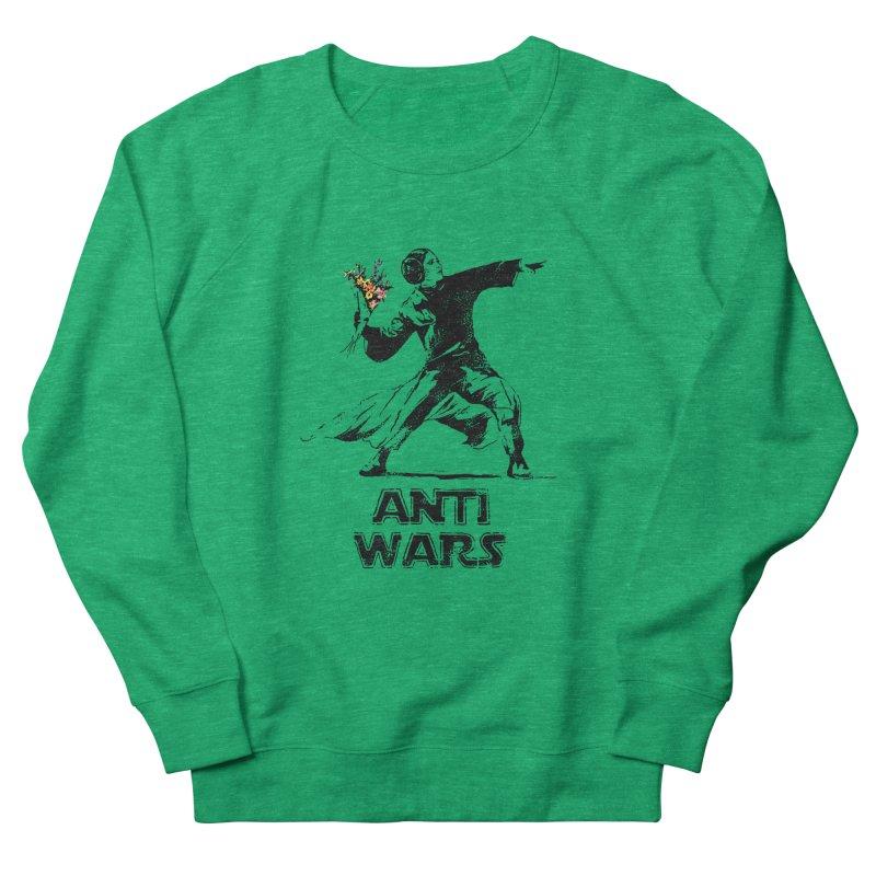 Anti Wars Men's French Terry Sweatshirt by INK. ALPINA