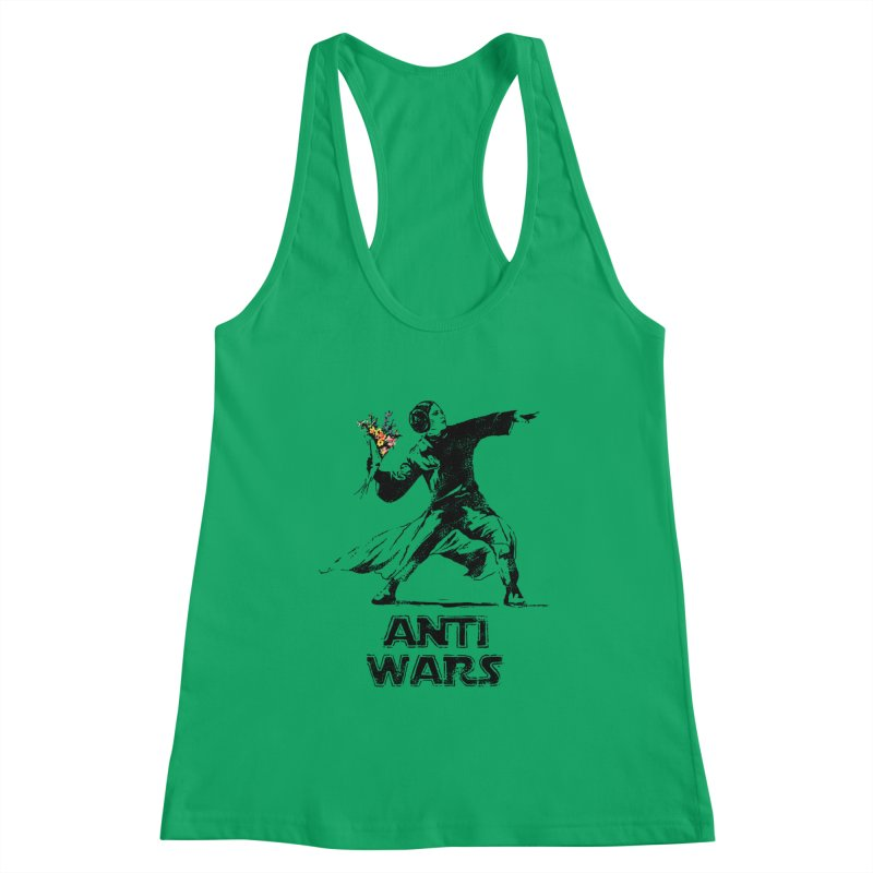 Anti Wars Women's Racerback Tank by · STUDI X-LEE ·