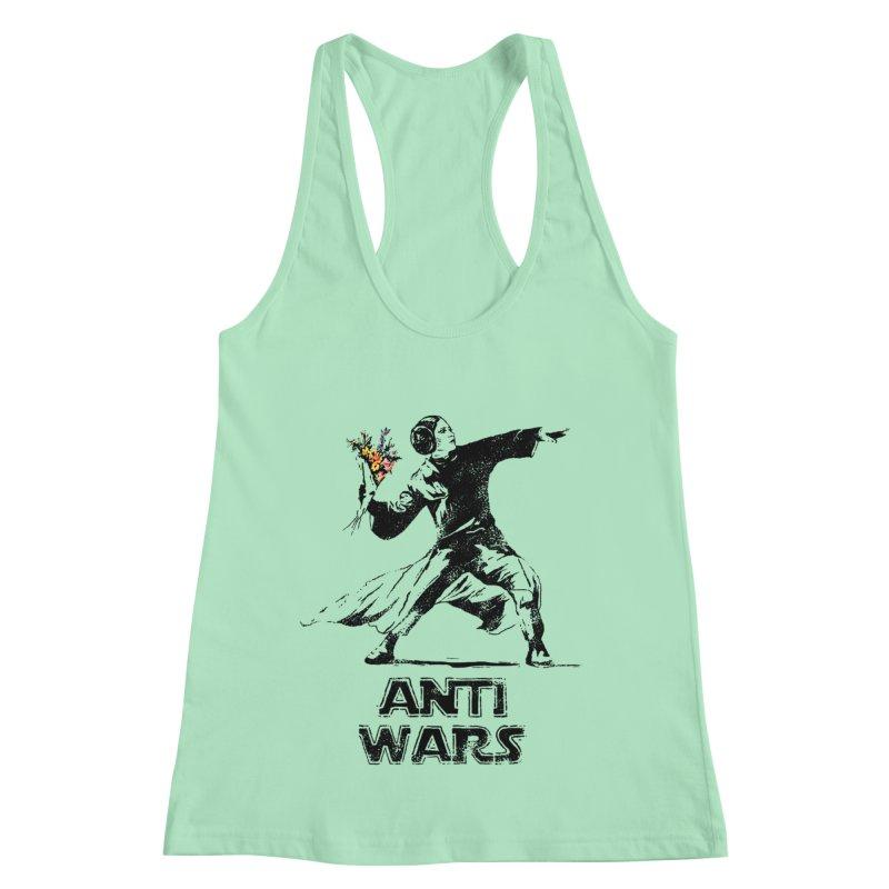 Anti Wars Women's Racerback Tank by · STUDI X-LEE ·